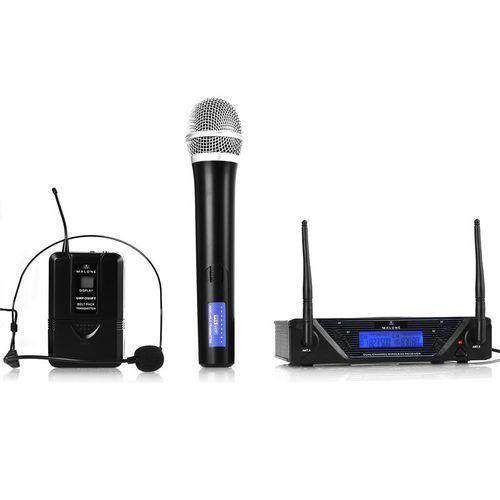 Malone  uhf-450 duo 2-kan. zestaw mikrofonów bezprzew. uhf