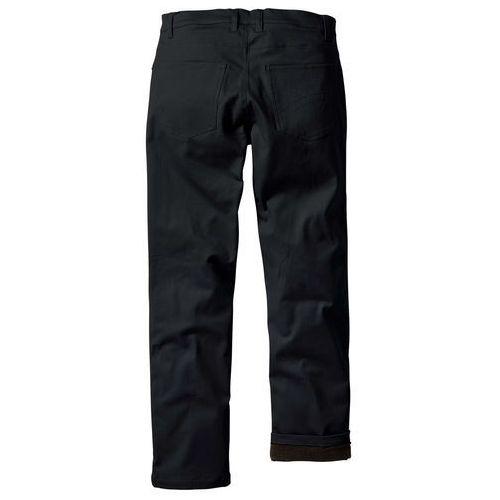 Bonprix Spodnie ocieplane czarny