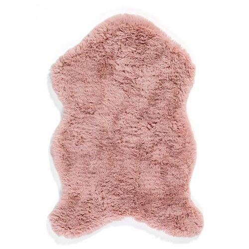 Dywan ze sztucznego futerka dymny różowy marki Bonprix