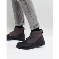 Levis jax leather boots in black - black