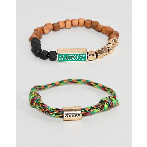 Classics 77 cord & beaded bracelet in multi - Multi