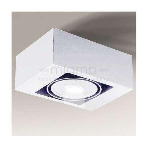 Regulowana LAMPA nastropowa UTO IL 1222/LED/BI Shilo metalowa OPRAWA prostokątna LED 8W biała