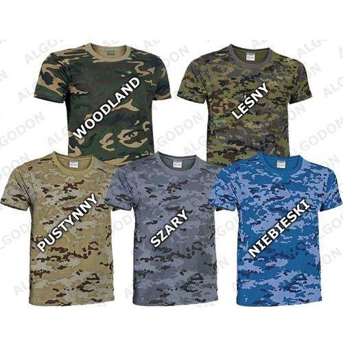 T-shirt koszulka moro ASG bawełna 200g/m2 woodland Jungle pantera leśna L woodland, bawełna