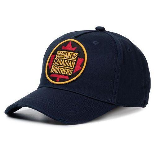 Czapka z daszkiem - patch cargo baseball caps bcm0238 05c00001 3073 navy marki Dsquared2