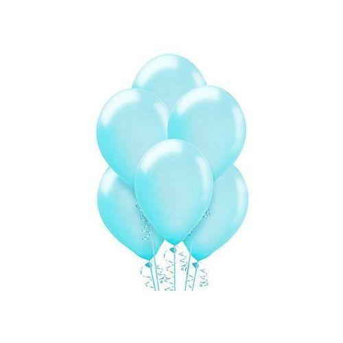 Balony lateksowe metaliczne duże - błękitne - 100 szt. (5901157461155)