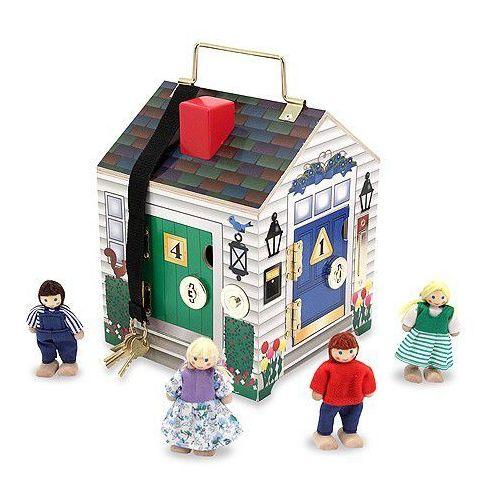 Domek z dzwonkami i zamkami-drewno melissa&doug marki Melissa & doug