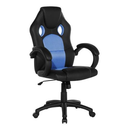 Krzesło biurowe niebieskie regulowana wysokość rest marki Beliani