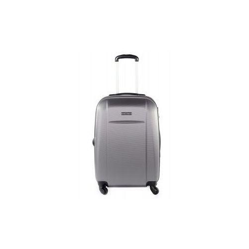 PUCCINI walizka średnia z kolekcji ABS02 twarda 4 koła materiał ABS zamek szyfrowy