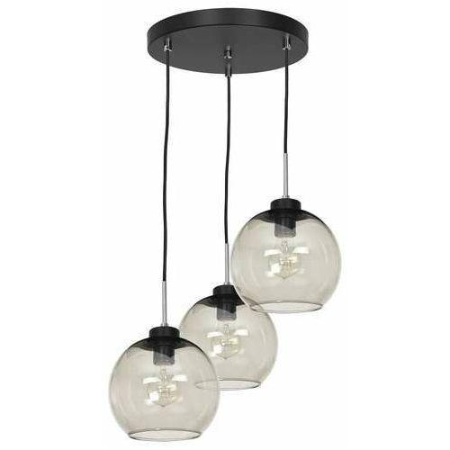 bogota 1758 lampa wisząca zwis 3x60w e27 czarna/dymiona marki Luminex
