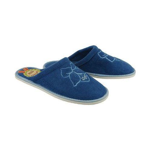 METEOR 042 FROTTE ciemnoniebieski, kapcie damskie - Niebieski, kolor niebieski