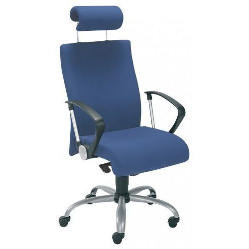Krzesło obrotowe NEO II hrua gtp9 steel02 alu - biurowe z zagłówkiem, fotel biurowy, obrotowy, NEO II HRUA GTP9 steel02 alu