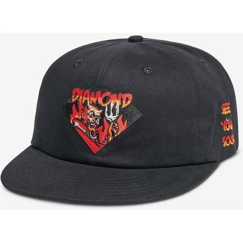 czapka z daszkiem DIAMOND - See You Soon Unstruc Strapback Black (BLK) rozmiar: OS, kolor czarny