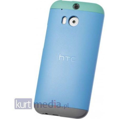 Etui HTC One M8 Double Dip Hard Shell niebiesko pomarańczowo zielone z kategorii Futerały i pokrowce do telefonów
