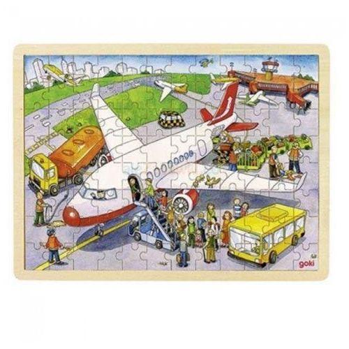 Puzzle 96 samolot marki Goki