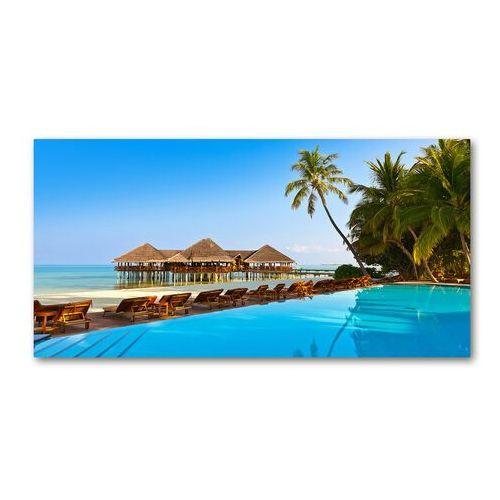 Foto obraz akryl Basen na Malediwach