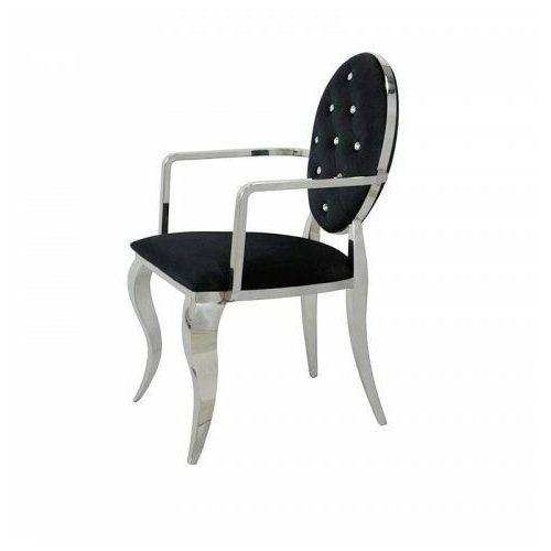 Krzesło tapicerowane Premier - stal oksydowana nowoczesny glamour (5908273392738)