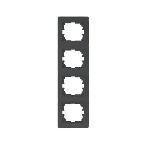 Kanlux domo 01-1540-041 gr ramka poczwórna pionowa 24946 (5905339249463)