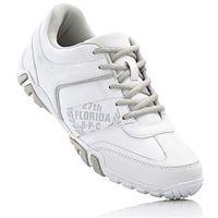 Buty sznurowane bonprix biało-szary, kolor biały