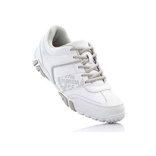 Bonprix Buty sznurowane biało-szary