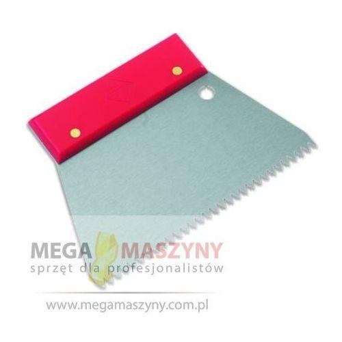 RUBI Szpachelka stalowa ząbkowana 18 cm Rączka plastikowa 3x3 mm - produkt z kategorii- Kielnie, szpachelki i pace