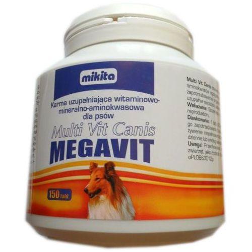 multi vit canis megavit - mieszanka witaminowo - mineralno - aminokwasowa dla psów 150tab. marki Mikita