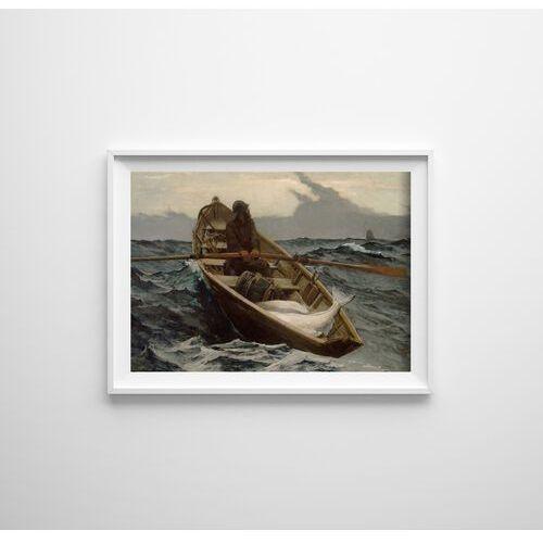 Vintageposteria.pl Plakat retro do salonu plakat retro do salonu ostrzeżenie przed mgłą winslow homer