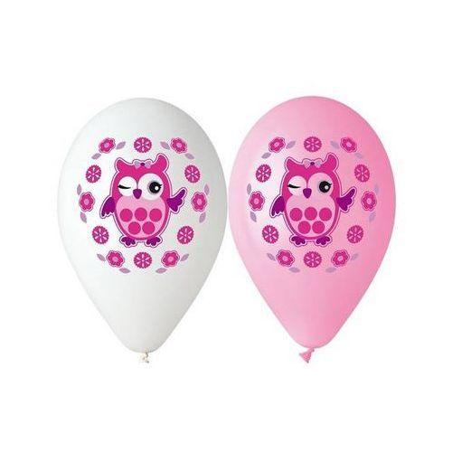 Balony pastelowe sowa - 30 cm - 5 szt. marki Go