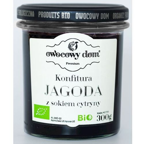 KONFITURA JAGODA Z SOKIEM Z CYTRYNY BIO 300 g - OWOCOWY DOM, 5902768883114