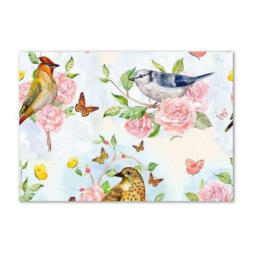 Obraz zdjęcie szkło akryl Ptaki i róże