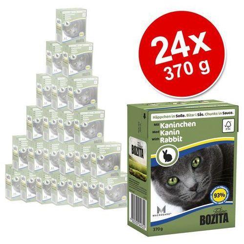 BOZITA dla kota z Krewetkami kawałki w sosie kartonik 370g - - zestaw 6 + 1 gratis [dostawa od 8,59zł, Firma Rodzinna] (7300330049353)