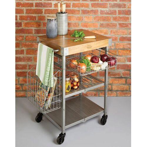 Kitchen craft Wózek kuchenny - wyspa na kółkach z blokiem rzeźniczym (indkcart) (5028250770813)