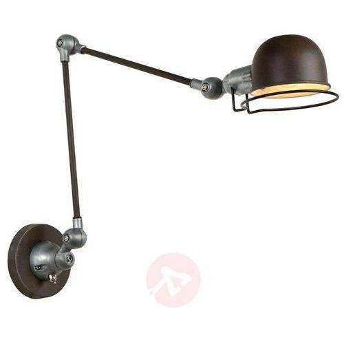 Industrialna lampa ścienna honore, regulowana marki Lucide