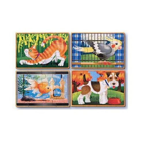 Melissa & doug Puzzle drewniane zwierzęta domowe 13790 (0000772137904)