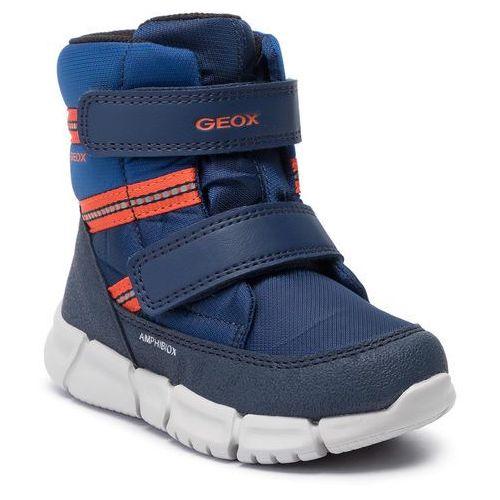 Geox Śniegowce - b flexyper b b abx c b943pc 0fu54 c4074 d navy/orangefluo