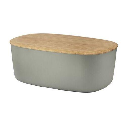 Chlebak z deską do krojenia Rig-Tig Box-It ciepły szary