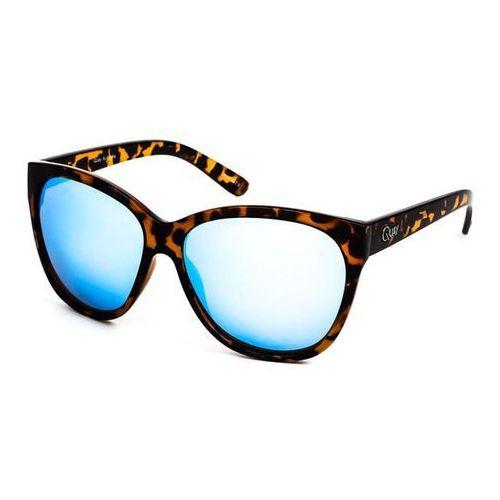 Okulary Słoneczne Quay Australia QW-000001 ABOUT LAST NIGHT TORT/BLUE, kolor niebieski