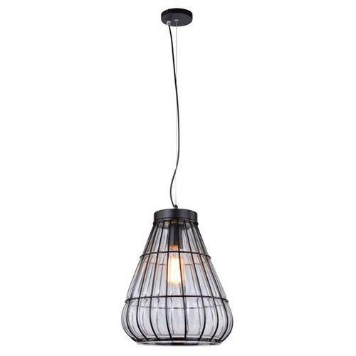LAMPA wisząca SNITCH 31-43474 Candellux szklana OPRAWA zwis koszyczek czarny przezroczysty - produkt z kategorii- Lampy sufitowe