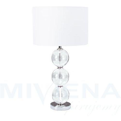 Searchlight Lampa stołowa 1 chrom szkło abażur