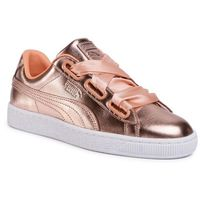 Sneakersy - basket heart luxe wn's 366730 03 dusty coral/puma white, Puma, 36-41