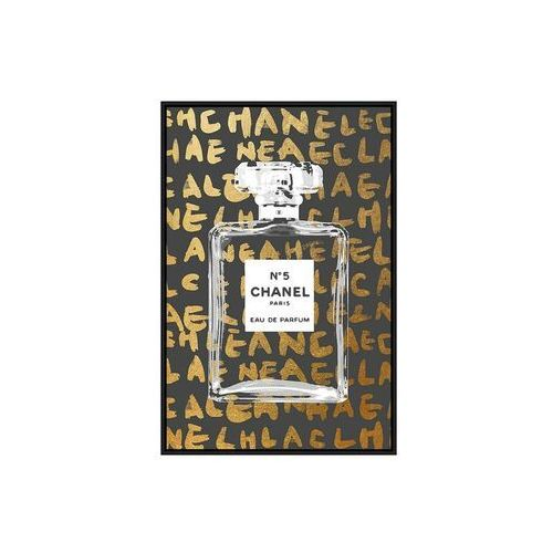 Obraz drukowany w ramie DARK – 60 × 90 × 2,5 cm (dł. × szer. × wys.) – kolor złoty i czarny
