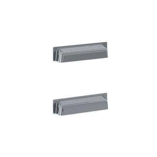 ELITA uchwyty Inge New metalowe, chrom, do słupka, 2 sztuki 167190, 167190