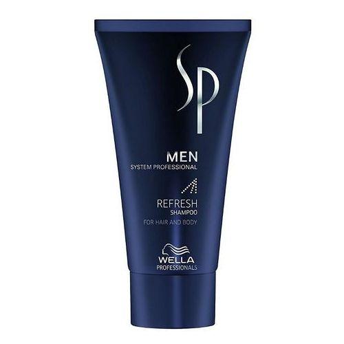 Wella SP Men Refresh, odświeżający szampon do włosów i ciała dla mężczyzn, 30ml (4015600224653)