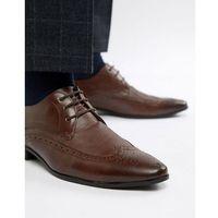 brogue with embossed detail in dark brown - brown, New look