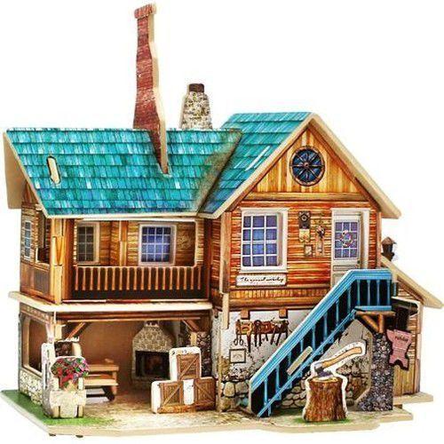 Puzzle 3d drewniany dom marki Anek