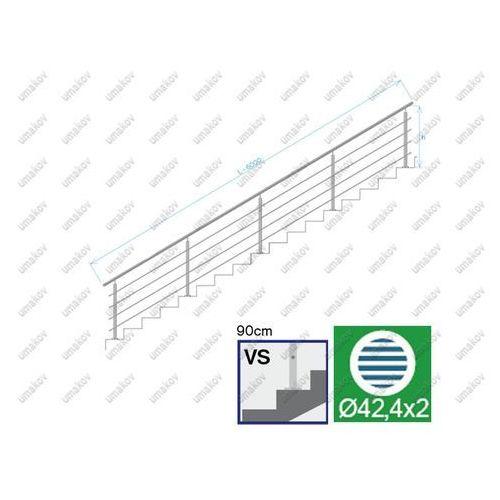 Balustrada nierdzewna aisi304, d42,4/4xd12/h900/l6 marki Umakov