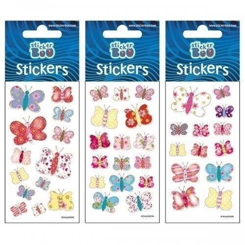 Naklejki sticker boo silver motyle (5902643620544)