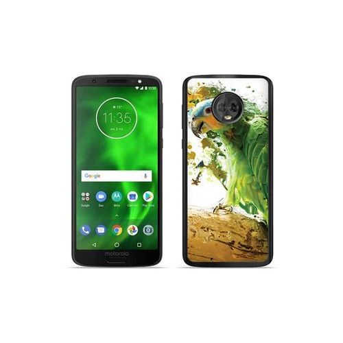 Etuo foto case Motorola moto g6 - etui na telefon foto case - zielona papuga