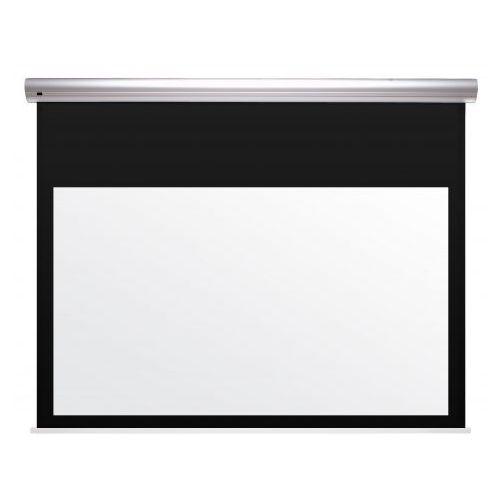 Ekran elektrycznie rozwijany z napinaczami Kauber BLUE LABEL XL - TENSIONED BLACK TOP format 4:3 380x285