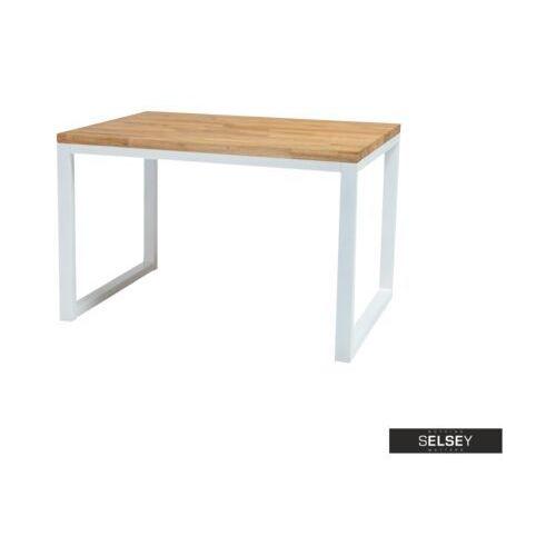 Signal Selsey stół pazmer 150x90 cm z litego drewna z białą podstawą (5903025239590)