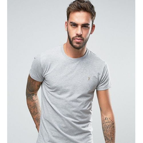 Farah southall super slim fit logo t-shirt in grey exclusive at asos - blue